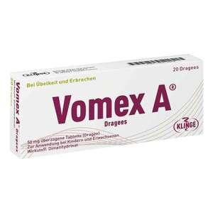 Vomex A Dragees 20 Stück Reisetabletten