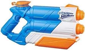 Super Soaker Twin Tide, Wasserpistole mit doppelter Spritzpower und Pump-Funktion [Amazon Prime]
