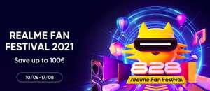 Realme Fans Fastival Gutscheine für Handys z.B. 100€ bei 300€ MBW, z.B. Realme GT für 399€