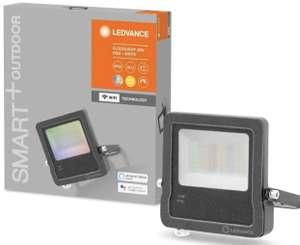LEDVANCE Smarter 30W LED Flutstrahler für Außen, WiFi Technologie, RGB-Farben änderbar, dunkelgrau