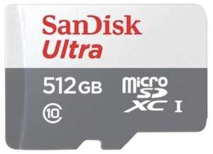 SANDISK Ultra Micro-SDXC Speicherkarte 512GB für 49€ inkl. Versandkosten