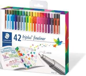 STAEDTLER Fineliner triplus, dreikant, Set mit 42 brillanten Farben für 11,49€ (Müller Abholung)