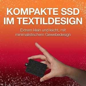 """Seagate One Touch SSD schwarz 1TB, 1,8"""", USB 3.0 Micro-B, externe Festplatte, Lesen/Schreiben bis zu 400 MB/s, 65g"""