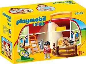 Playmobil 1.2.3 - Mein Mitnehm-Reiterhof (70180) für 15,67€ (Amazon Prime)