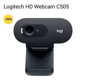 Logitech HD Webcam C505 max. Auflösung 1280 x 720p, externe USB Kamera mit 60°-Sichtfeld und 2 Meter USB-A Kabel, Low Light Korrektur