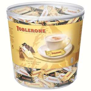 Toblerone Tiny 113×8g Mixed Minis (7,37€/kg) • 4×35g Lay's Chips (3,36€/kg) • 10×10ml Langnese Eiskonfekt Erdbeer (3,90€/l)