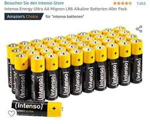 [Prime] Intenso Energy Ultra AA Mignon LR6 Alkaline Batterien 40er Pack