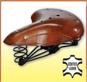 Retro-Fahrradsattel aus Leder (gefedert) für 14,99 Euro [Zimmermann - Filiale ]