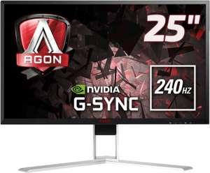 """AOC Agon AG251FG Monitor (24.5"""", FHD, TN, 240Hz, G-Sync, 400cd/m², HDMI 1.4, DP 1.2, 4x USB-A, 2x 2W LS, Pivot, 3J Garantie)"""