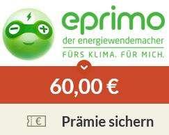 [Spartanien] Eprimo Strom & Gas 60€ Cashback (Tarif monatlich kündbar)