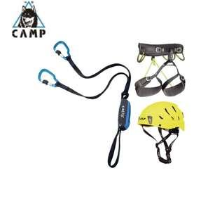 """CAMP Klettersteig-Komplettset Basic: Klettersteigset Kinetic + Klettergurt Energy CR 4 + Helm Camp Armour """"Sportler"""""""