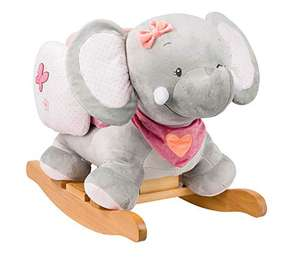 Nattou Adele & Valentine, Elefant Adèle, Schaukeltier, 10 - 36 Monate