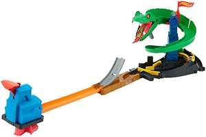 Hot Wheels - City Kobra Angriff Set, großes Spielset mit Schlange inkl. 1 Spielzeugauto für 19,99€ (Amazon Prime)