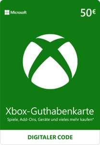 50€ Xbox-Guthabenkarte für 41,89€ (für den europäischen Microsoft Store, Faktor 0.838)