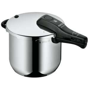 WMF Perfect Schnellkochtopf 6,5 Liter [Induktion, Cromargan Edelstahl poliert, 2 Kochstufen, Einhand-Kochstufenregler]
