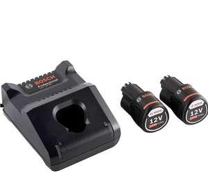 Bosch Professional 12V System Akku Set (2x2.0Ah Akku + Ladegerät GAL 12V-40 C132, im Karton) (Amazon)