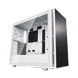 Fractal Design PC-Gehäuse Define S2 White (Inkl. 3x 140mm-Lüfter, USB-C, Glas-Seitenfenster, Gedämmt, Staubfilter)