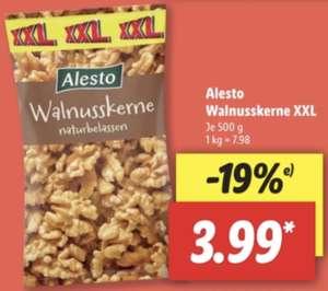 Nüsse XXL z.B. 500g Walnusskerne naturbelassen für 3,99€