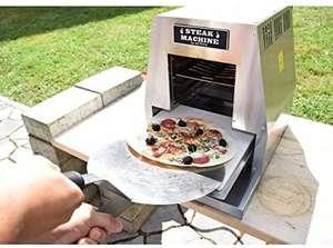 Activa Steak Machine Gasgrill 800 Grad inkl Pizzastein & Pizzaschieber [ohne Prime 44,99€ - All Time Bestpreis]
