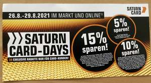 Saturn Card Days 26.08.2021 - 29.08.2021 Rabatte nur für Card Kunden