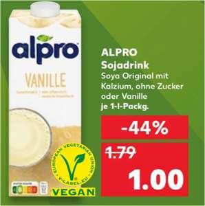 Alpro Sojadrink verschiedene Sorten (Schoko, Vanille und Banane auch dabei) für 1€ und mit 1€ Coupon