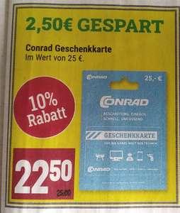 [Marktkauf] Minden-Hannover Conrad Geschenkekarte im Wert von 25€ 10% günstiger