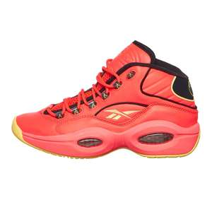 Reebok x Hot Ones Question Mid (Neon Cherry / Black / Yellow Filament, 1,996,000+ Scoville) Round 2! First We Feast !