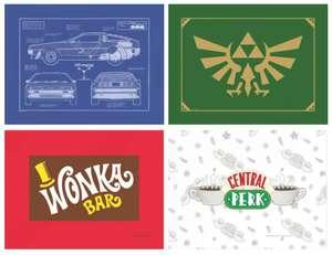 Schneidebretter in 20 Designs (Maße: 30 x 40 cm), ZB: Friends, Zurück in die Zukunft oder Batman