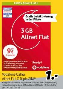 [MEDIMAX] Vodafone CallYa Allnet Flat S 4 Wochen kostenlos (+0,01€ Guthaben) bei Aktivierung vor Ort