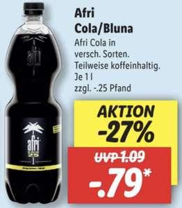 Afri Cola oder Bluna Limonade 1 Liter Flasche versch. Sorten je 0,79€
