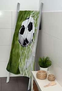 Herding Badetuch 75x150cm mit Fussball-Motiv aus 100% Baumwolle Oeko Tex 100, Trocknergeeignet für 9,99€ mit Prime