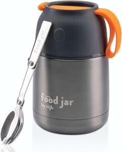 riijk Großer Thermobehälter inkl. Göffel + Schüssel – Warmhaltebehälter Essen – Thermobecher – Lunchpot – Thermoschüsseln mit Deckel