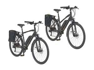 Prophete E-Bike Trekking, 28 Zoll, 100 km Reichweite, Damen & Herren mit Seitenpacktasche