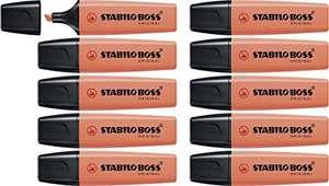 STABILO Textmarker - BOSS ORIGINAL Pastel 10er Pack (Korallrot) für 6,99€ (Amazon Prime)