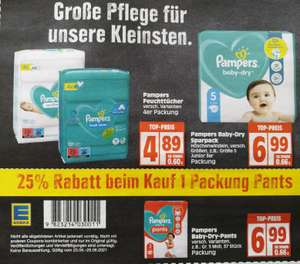 [Edeka] 25% auf Pampers Baby-Dry Pants