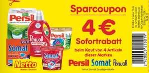 Netto MD / 4 Euro Sparcoupon / Sofortrabatt auf Somat / Persil / Perwoll Artikel beim Kauf von 4 Artikeln