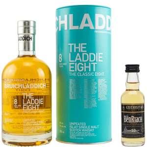 Whisky-Übersicht #104: z.B. Bruichladdich The Laddie 8 für 40,45€, 10x BenRiach 10 Curiositas Peated Miniature für 23,80€ inkl. Versand