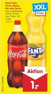 Coca Cola, Fanta, Mezzo Mix oder Sprite (versch. Sorten), die 2 Liter-Flasche für 1 Euro / Knoppers Riegel 200g für 1,35 Euro [Netto MD]