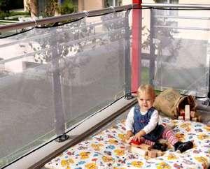 reer Balkon-Netz, Schutz-Netz für den Außen-Bereich, 294 x 94 cm (Prime)