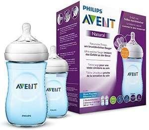 Philips AVENT Doppelpack SCF035/27 Natural Flasche, blau [Amazon Prime]