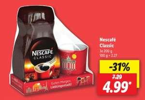 Nescafé Classic je 200 g Glas + Gratis Red Mug dazu ab 30.08 Lidl