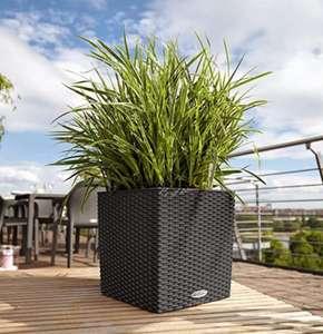 Lechuza Cube Cottage 40 Pflanzgefäß mit Bewässerungssystem in granit