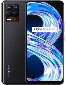 "[Saturn Card] Realme 8 6/128GB (6.4"", 2400x1080, AMOLED, 60Hz, Helio G95, 64MP, 4K@30fps, NFC, Klinke, microSD, 5000mAh, Android 11, 177g)"