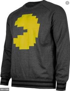 Musterbrand Pac Man Strick-Pullover Herren anthrazit (Gr. XS - XL)