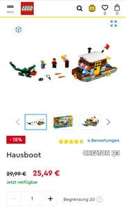 Lego 31093 Hausboot Creator 3 in 1(shoop 2% = 28,41 Euro)
