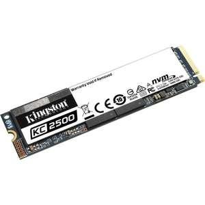 Kingston SSD KC2500 1TB (M.2, NVMe, PCIe, DRAM, 3D-NAND TLC, Lesen bis 3.500 MB/s, Schreiben bis 2.900 MB/s, 5 Jahre Garantie)