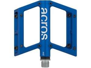 Acros MD Plattformpedale für MTB, gedichtetes Lager, 343 g, 16 Pins, blau