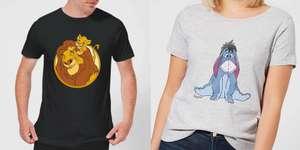 2 Disney T-Shirts für 19,99€ oder 3 T-Shirts für 26,99€ (über 600 Motive zur Auswahl, Größen: XS bis 5XL, gratis Versand)