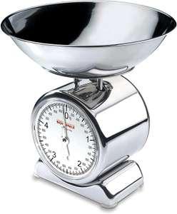 [Prime] Soehnle Analoge Küchenwaage Silvia aus Edelstahl mit abnehmbarer Wiegeschale, Küchenwaage analog mit 5 kg Tragkraft