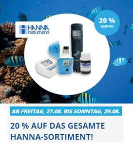 20% auf das gesamte HANNA Instruments Sortiment - Meerwasseraquaristik